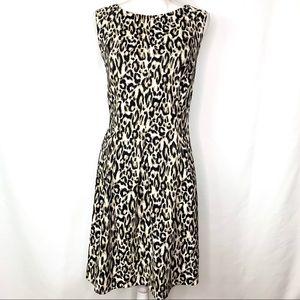 AGB Leopard Print Sleeveless A-Line Midi Dress 16
